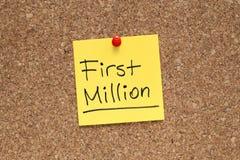 Första miljon Royaltyfria Foton
