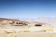 Första nybyggares hus i Death Valley, USA Royaltyfri Foto