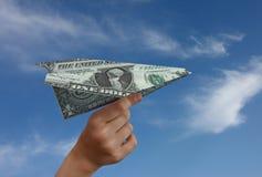 första pengar Arkivfoton