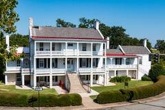 Första permanenta struktur på Fort Monroe i Hampton, Virginia Arkivbilder