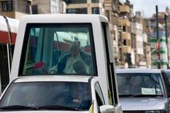 första pope för benedict dag till uk-visit xvi Royaltyfria Foton