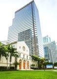 Första presbyterianska kyrkan av Miami, FL, USA arkivfoton