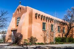 Första presbyterianska kyrkan, Santa Fe som är ny - Mexiko arkivbild