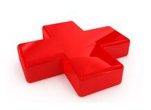 första röda tecken för hjälpmedelkors Royaltyfria Foton