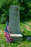 Första sköt monument Herr Ridge arkivfoto