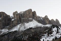 Första snö på Sella Arkivfoton