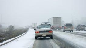 första snow för gta-huvudvägförödelse Royaltyfri Bild