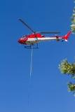 Första svarsbrandhelikopter Fotografering för Bildbyråer