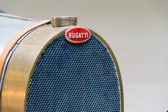Första tävlings- bil för Bugatti typ 51 från 1931 ställningar i nationellt tekniskt museum Arkivbild