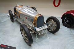 Första tävlings- bil för Bugatti typ 51 från 1931 ställningar i nationellt tekniskt museum Royaltyfria Bilder