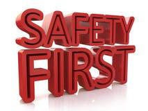första text för säkerhet som 3d isoleras över vit bakgrund stock illustrationer