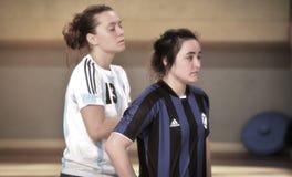 Första turkiska medborgareKorfball mästerskap Arkivbilder