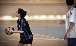 Första turkiska medborgareKorfball mästerskap Royaltyfri Foto