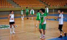 Första universitetKorfball semifinaler - Turkiet Arkivfoto