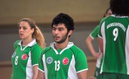 Första universitetKorfball semifinaler - Turkiet Arkivbild