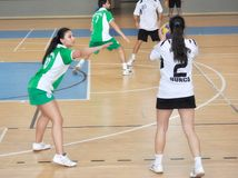 Första universitetKorfball semifinaler - Turkiet Royaltyfria Bilder