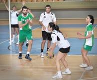 Första universitetKorfball semifinaler - Turkiet Royaltyfri Foto