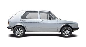 Första utveckling VW Golf Royaltyfria Bilder