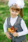 Första väghyvel för Schoolgirl Royaltyfri Foto