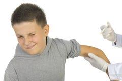 första vaccin Fotografering för Bildbyråer
