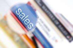 Förstorade försäljningar Fotografering för Bildbyråer