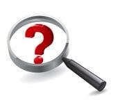 Förstorande frågor för sökande Arkivbilder