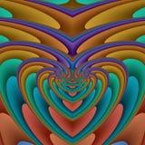 förstorande hjärtaspiral Royaltyfri Bild