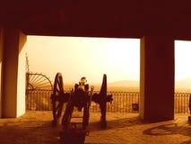 Försvar av slottet! Fotografering för Bildbyråer