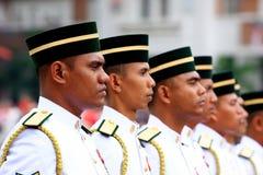 försvar malaysia ståtar Arkivbild