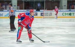 Försvarare Alex Bondarev (9) Fotografering för Bildbyråer