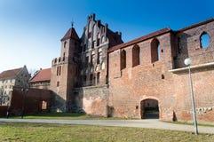 Försvarväggar i Torun, Polen Royaltyfria Bilder