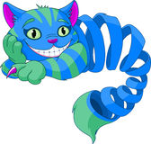 Försvinnande Cheshire Cat vektor illustrationer