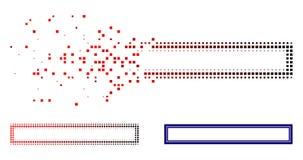 Försvinnande Dot Halftone Double Rectangle Frame symbol vektor illustrationer
