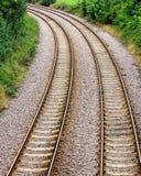 Försvinnande järnväg linjer Arkivfoto