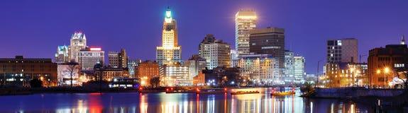Försyn Rhode Island Skyline Fotografering för Bildbyråer