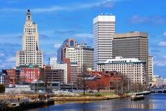 Försyn Rhode Island Skyline Arkivbilder