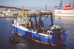 Förtöja i port Royaltyfria Foton