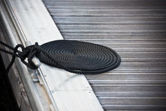 förtöja nautiskt rep Fotografering för Bildbyråer
