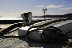 förtöjd ship för hytt bow till Fotografering för Bildbyråer
