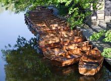 förtöjde fartyg Arkivbild