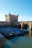 Förtöjde fisherboats Royaltyfri Fotografi