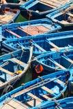 Förtöjde fisherboats Royaltyfri Bild