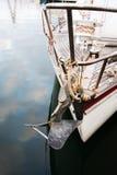 förtöjt fartyg Royaltyfria Foton