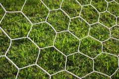 Förtjäna av målfotboll eller fotboll för bakgrund & x28; välj focus& x29; Arkivbilder