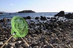 Förtjänar och Pebble Beach Royaltyfri Bild