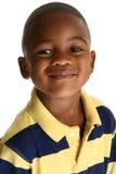 förtjusande afrikansk amerikanpojke Arkivfoto