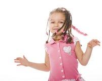 förtjusande afrikansk flicka little Arkivfoto