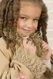 förtjusande afrikansk flicka little Royaltyfri Bild