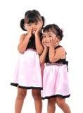 förtjusande asiatiska lyckliga ungar Royaltyfri Fotografi