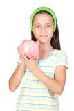 förtjusande askflicka little pengar Royaltyfri Fotografi
